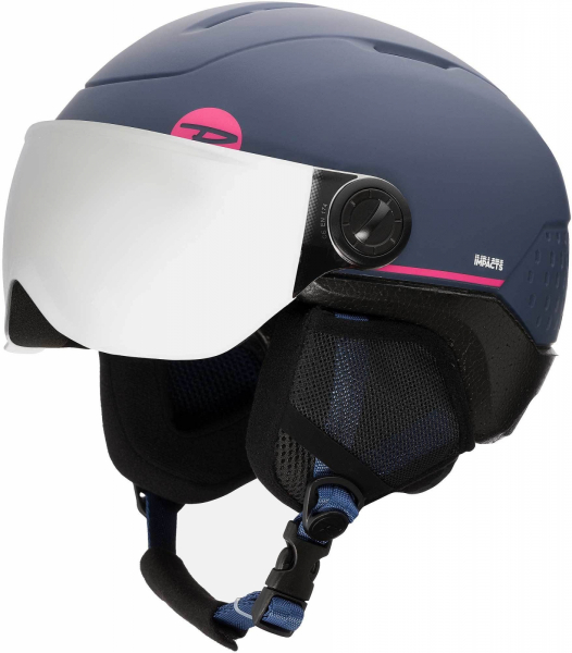 Casca schi copii Rossignol WHOOPEE VISOR IMPACTS Blue / Pink 4