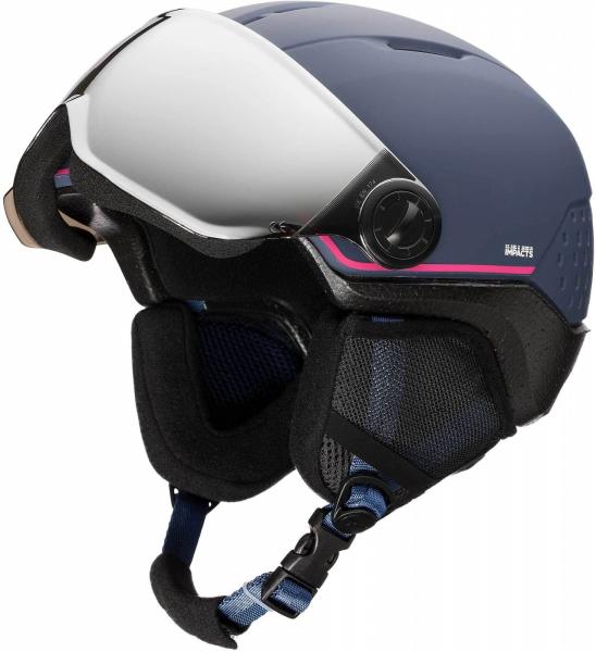 Casca schi copii Rossignol WHOOPEE VISOR IMPACTS Blue / Pink 0