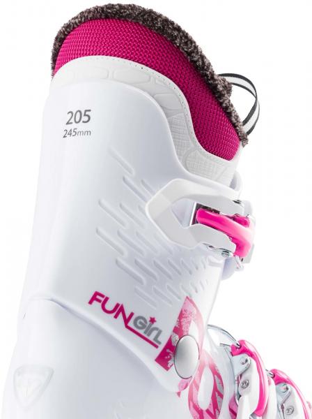 Clapari copii Rossignol FUN GIRL J3 White pink 2