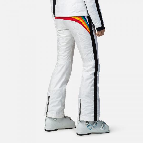 Pantaloni schi dama Rossignol JCC W RAINBOW White 1