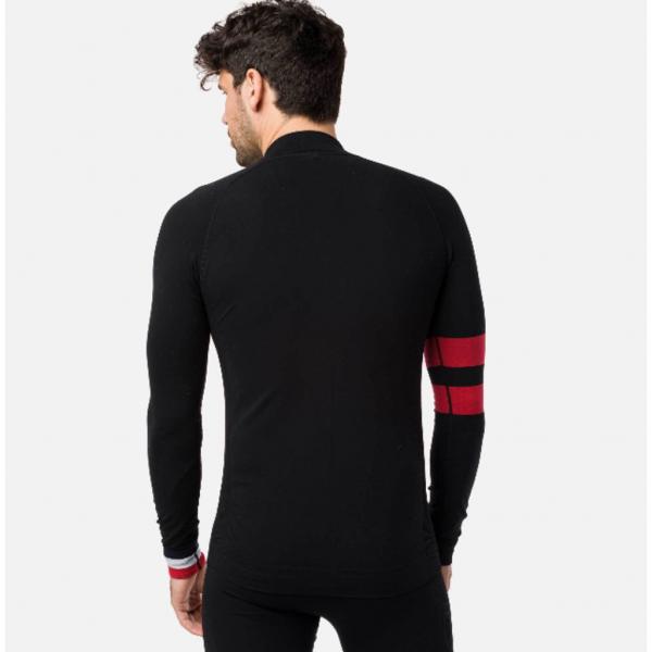 Bluza first layer barbati Rossignol DROITE UNDERWEAR TOP Black 2