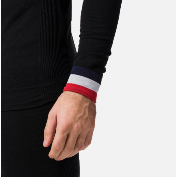 Bluza first layer barbati Rossignol DROITE UNDERWEAR TOP Black 1