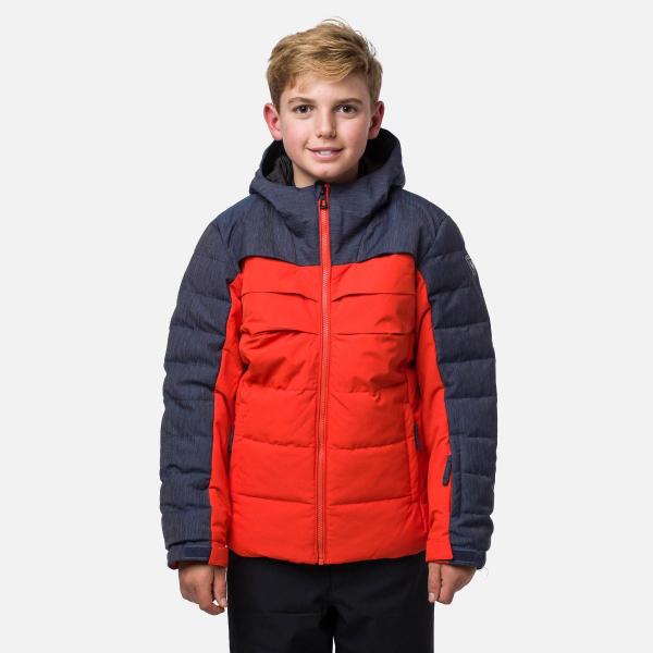 Geaca schi copii Rossignol BOY POLYDOWN Lava orange 0