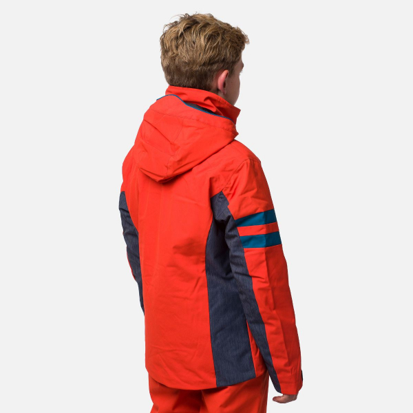 Geaca schi copii Rossignol BOY SKI Lava orange 1