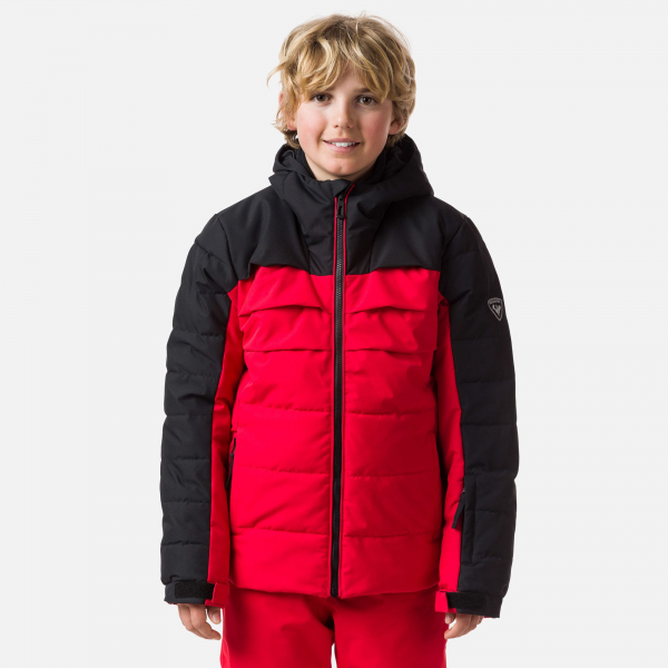 Geaca schi copii Rossignol BOY POLYDOWN Sports red 0