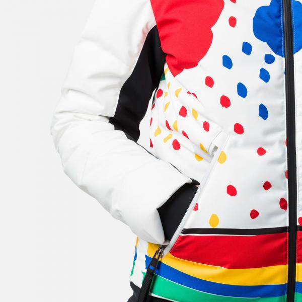 Geaca schi dama Rossignol JCC W FURI PR DOWN Rainbow 9