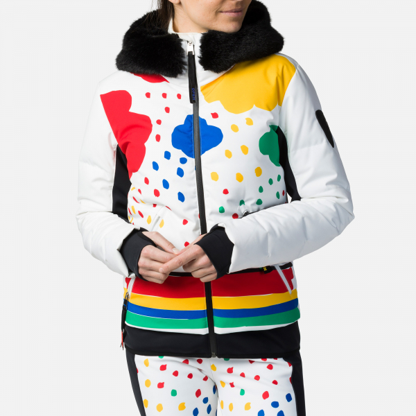 Geaca schi dama Rossignol JCC W FURI PR DOWN Rainbow 0