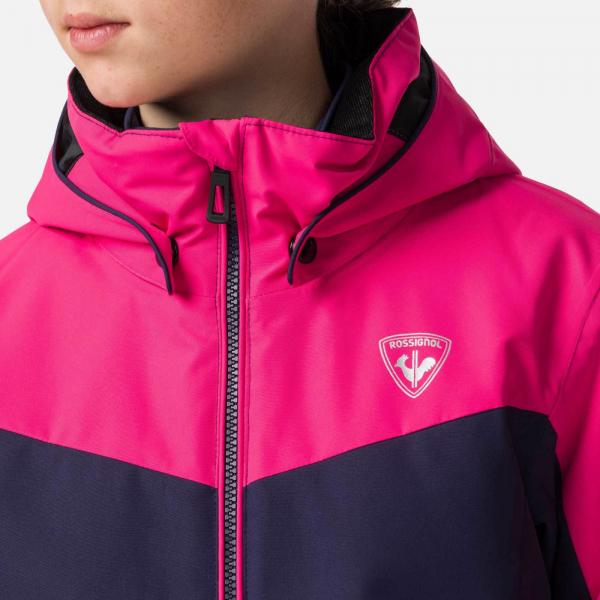 Geaca schi fete Rossignol GIRL SKI Pink fushia 4