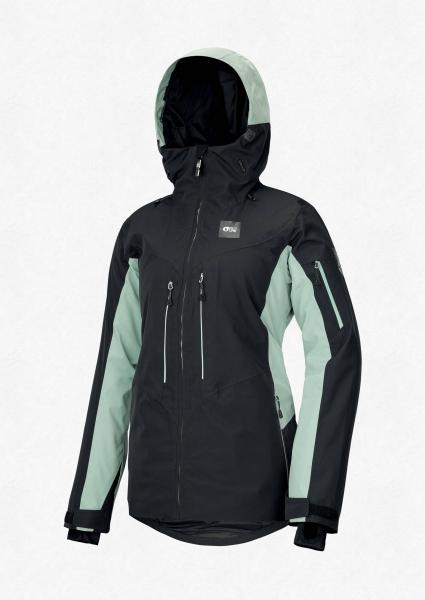 Geaca snowboard dama PICTURE EXA Black almond green 0