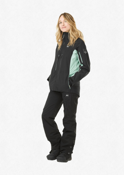 Geaca snowboard dama PICTURE EXA Black almond green 4