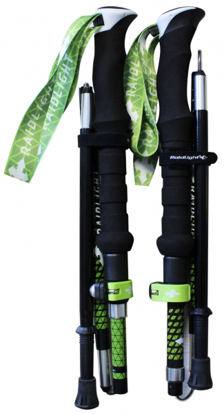 Bete telescopice Raidlight AVATARA HYBRID Black lime green 0