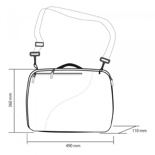 Husa clapari Rossignol DUAL BASIC BOOT BAG 3