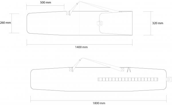 Husa schi Rossignol ELECTRA EXTENDABLE BAG 140-180 5