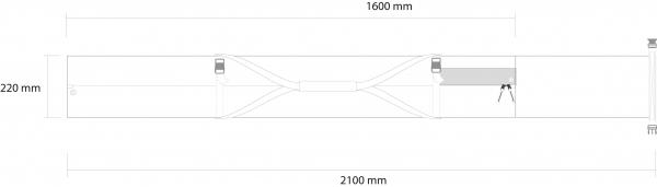 Husa schi Rossignol PREMIUM EXTENDABLE 2P PADDED  160-210 3