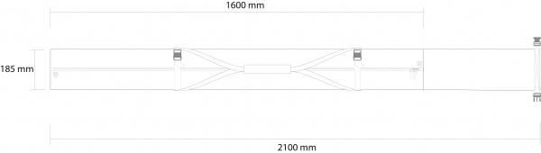 Husa schi Rossignol STRATO EXTENDABLE 1 P PADDED 160-210 8