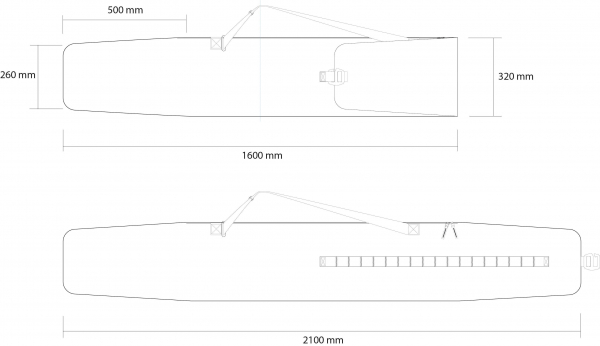 Husa schi Rossignol TACTIC SK BAG EXTENDABLE LONG 160-210 3