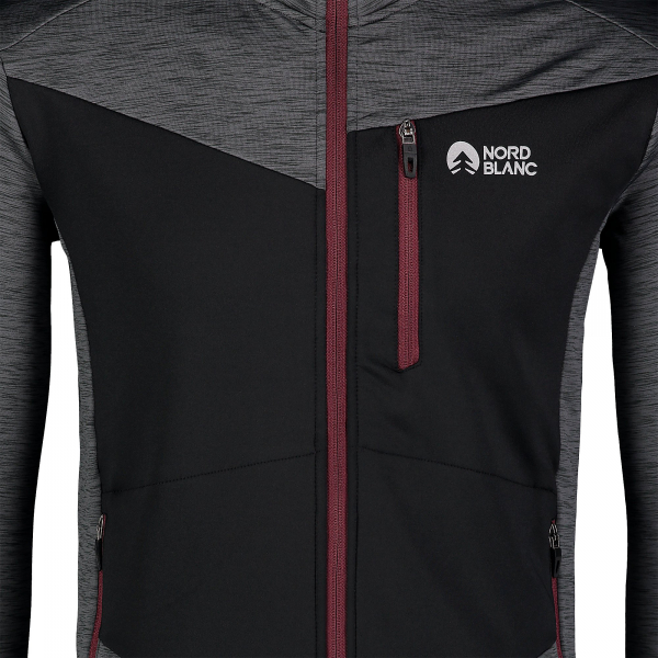 Bluza barbati Nordblanc MISSION power fleece Graphite melange [5]