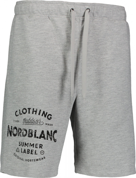 Pantaloni scurti barbati Nordblanc PURPORT cotton fitness Light grey melange 0