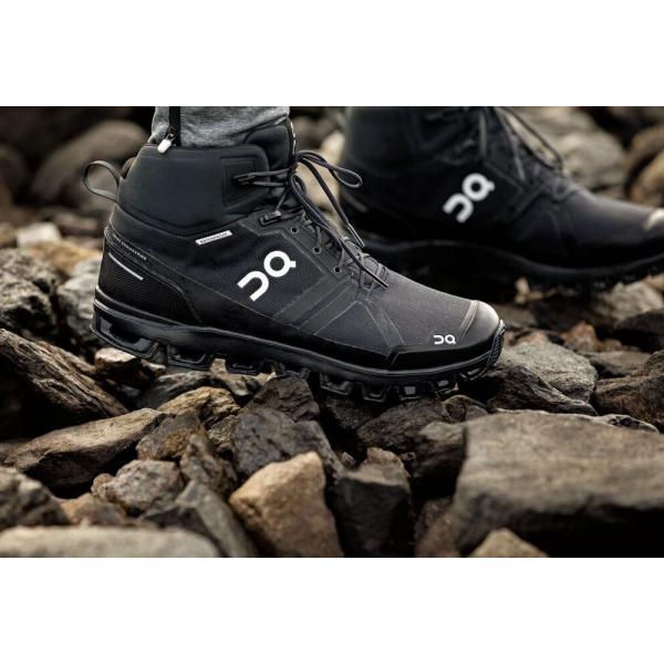 Pantofi sport barbati ON CLOUDROCK WATERPROOF All black 1