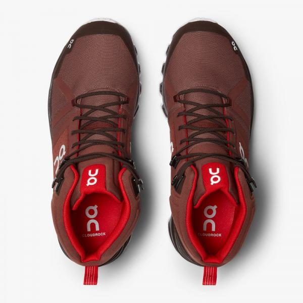 Pantofi sport barbati ON CLOUDROCK WATERPROOF Cocoa Red 2