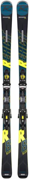Schiuri + legaturi Rossignol REACT R8 HP/NX12 K.GW BK/YELL 0
