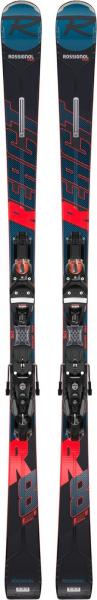 Schiuri + legaturi Rossignol REACT R8 TI + NX12 K.GW BK/RED 0