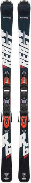 Schiuri + legaturi Rossignol REACT 6 Compact + XPress 11 GW B83 Black/Hot red 0