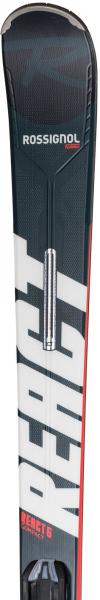 Schiuri + legaturi Rossignol REACT 6 Compact + XPress 11 GW B83 Black/Hot red 2