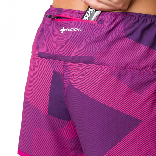 Short alergare dama Raidlight W ACTIV RUN Purple 3