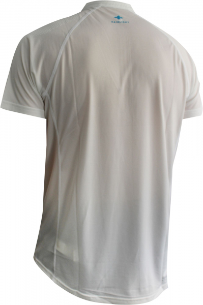 Tricou alergare barbati Raidlight ACTIV RUN SS MID ZIP White 1