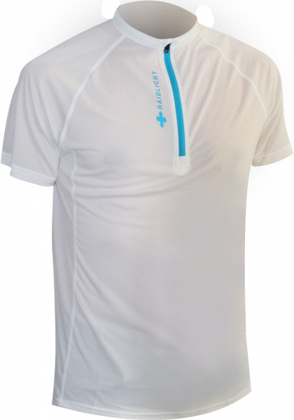 Tricou alergare barbati Raidlight ACTIV RUN SS MID ZIP White 0
