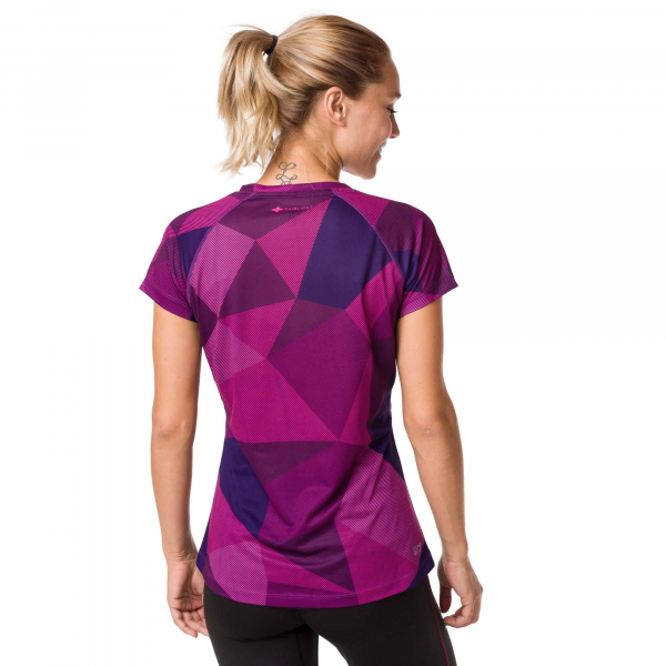 Tricou alergare dama Raidlight W TECHNICAL SS TOP Purple 1