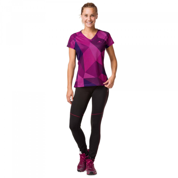 Tricou alergare dama Raidlight W TECHNICAL SS TOP Purple 2