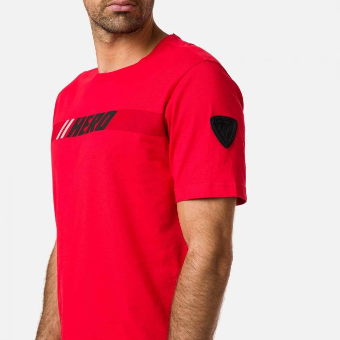 Tricou barbati Rossignol HERO Neon red 2