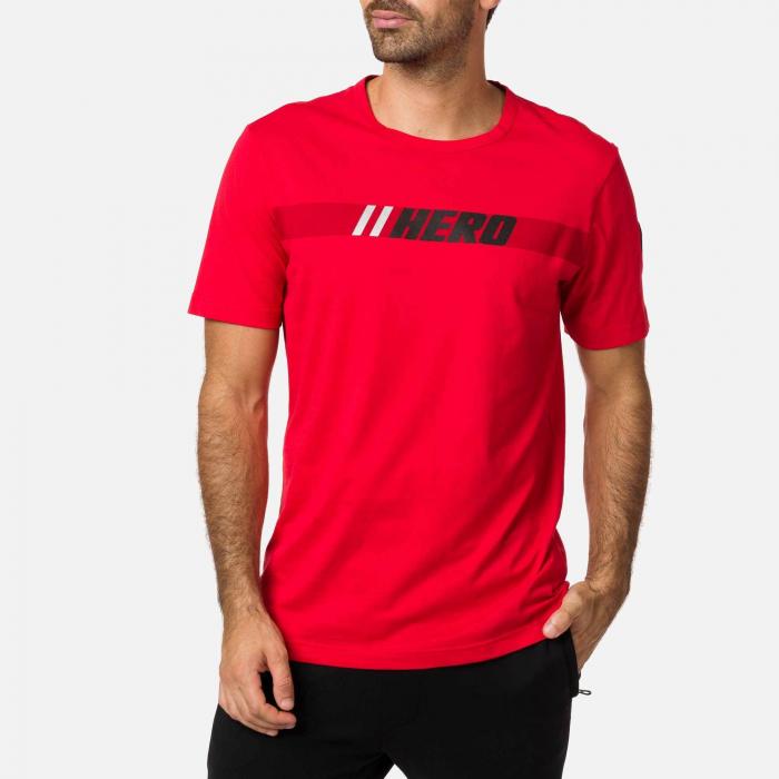 Tricou barbati Rossignol HERO Neon red 0