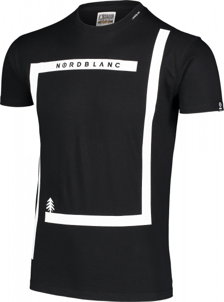 Tricou barbati Nordblanc ENFRAME cotton Black 1