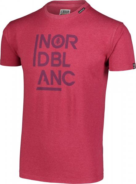 Tricou barbati Nordblanc OBEDIENT cotton Deep red 1