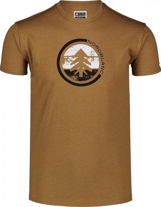 Tricou Barbati Nordblanc TRICOLOR COTTON tawny brown [0]