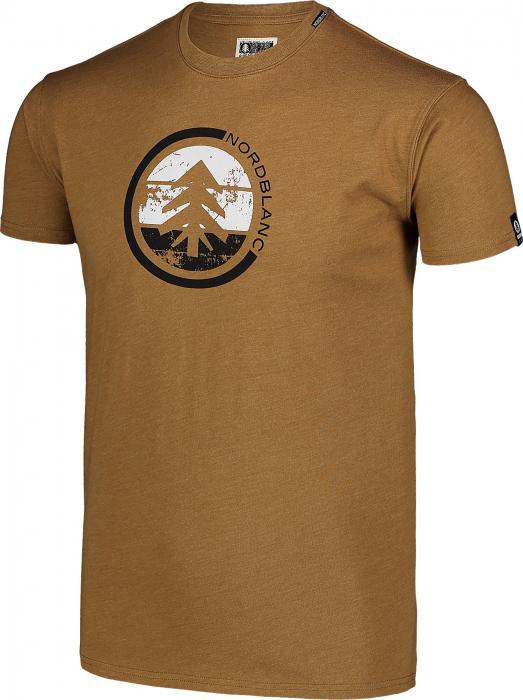 Tricou Barbati Nordblanc TRICOLOR COTTON tawny brown [1]