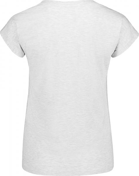 Tricou dama Nordblanc CHEEK light cotton Light grey melange 1