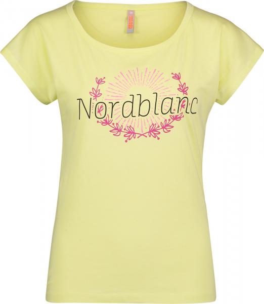 Tricou dama Nordblanc LAUREL Loose Fit cotton Lemon green 0