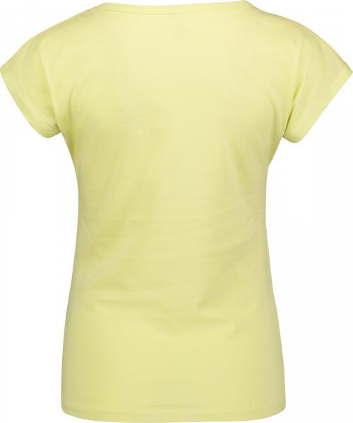 Tricou dama Nordblanc LAUREL Loose Fit cotton Lemon green 1