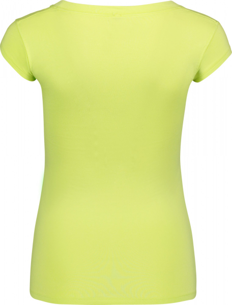Tricou dama Nordblanc NEST viscose elastan Lemon green 1