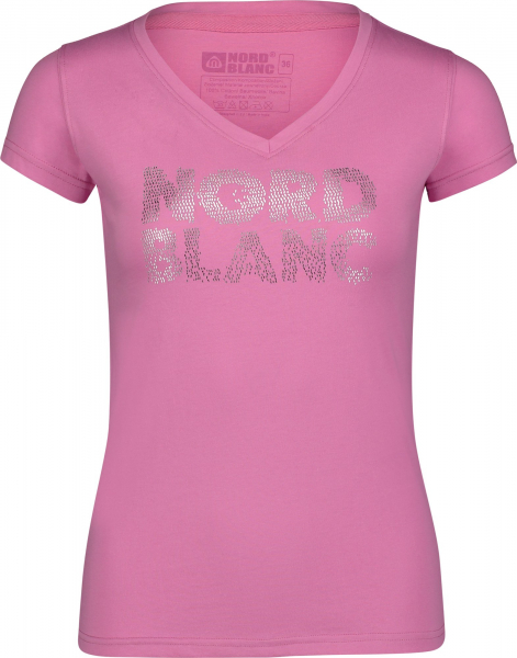 Tricou dama Nordblanc RATTLE cotton Sweet pink 0