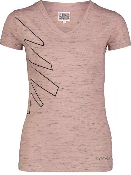 Tricou dama Nordblanc W CONIFER cotton Dusty pink 0