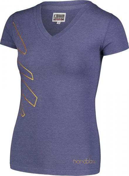 Tricou dama Nordblanc W CONIFER cotton Lovely blue 1