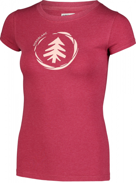 Tricou dama Nordblanc W MEDAL cotton Deep red 1