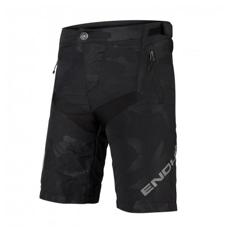Pantaloni scurti copii Endura MT500JR Short With Liner Negru [0]
