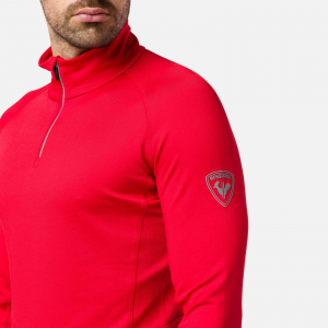 Bluza barbati Rossignol CLASSIQUE 1/2 ZIP Sports red2