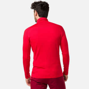 Bluza barbati Rossignol CLASSIQUE 1/2 ZIP Sports red1